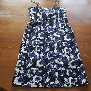 Jones Wear Dress with blue and white flowers